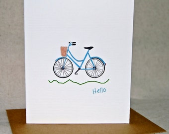 Bicycle Note Cards,Thinking of You Card, Thank You Cards, Hello Folded Notes, Cyclist Cards, Note Card Set, Sports Cards, Note Writer