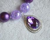 Princess Sofia Inspired Amulet Necklace: Girls Chunky Necklace Purple