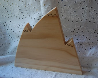 Wood Mountain Background for Nativity, Sculptures, Nature Table, Faith