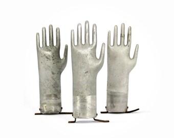 vintage aluminum glove mold