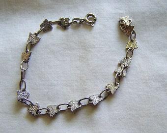 Sterling Silver Vintage Dainty Butterfly Bracelet