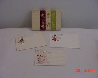 9 Vintage Post A Note Postcards & 5 Recipe Cards In Original Box  16 - 131