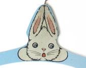 Vintage Wooden Child Hanger Bunny Rabbit Design