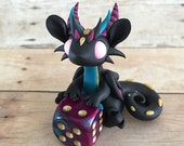 Black and Purple Dice Dragon