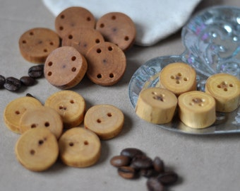 tree branch buttons wooden button  •  set of MIX 16  wood buttons