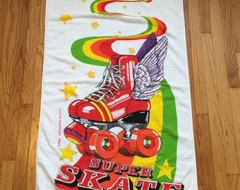 Vintage Roller Skate Terry Cloth Towel!