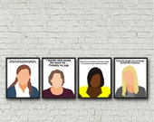ALL 4 PRINTS - Pam Beesly, Angela Martin, Phyllis Vance, Kelly Kapoor, The Office, digital download, poster quote, tv show, last minute gift
