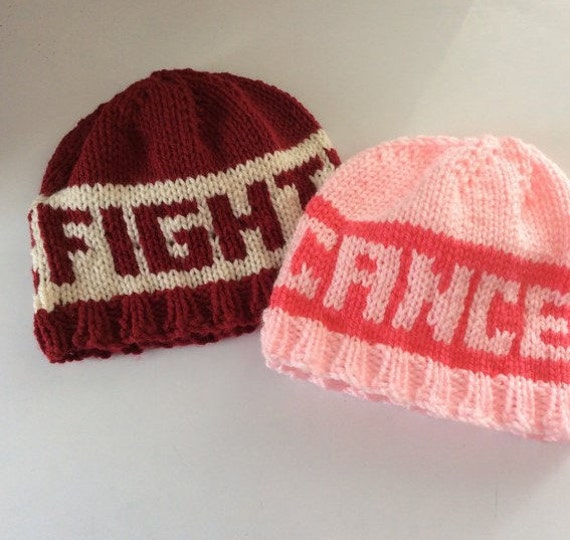 Knitting Patterns For Cancer Beanies : Knit beanie hat cancer sucks chemo hat fight cancer hat