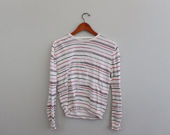 Vintage Red and White Striped knit long sleeve Shirt By callaway golf