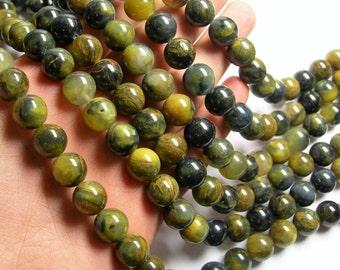 Golden Pietersite - 12mm round bead - A quality - 33 beads - full strand - RFG1069