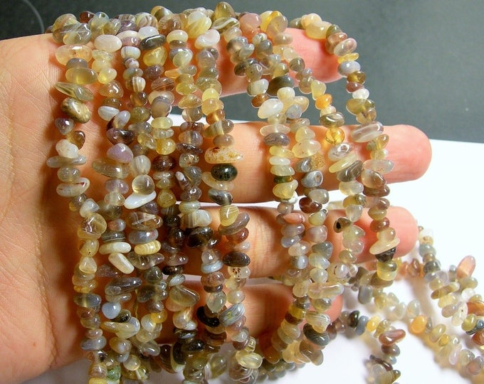 Botswana agate - chip stone - pebble-  nugget - bead - 36 inch -full strand - PSC196