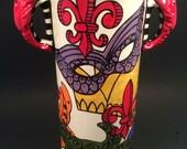 Crawfish Handled Fleur de Lis Mardi Gras Alligator Crab Fish Wine Chiller Utensil Holder Vase