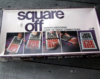 Vintage 1972 Square Off Game by Parker Brothers Game of Quick Connections Complete Made in USA