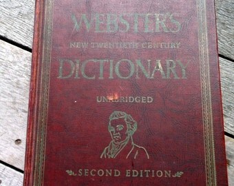 Dictionary vintage 1955 Webster's New Twentieth Century Dictionary Unabridged Second Edition Volume II 1955