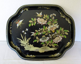 Metal Made In England Tray China Woods Pattern