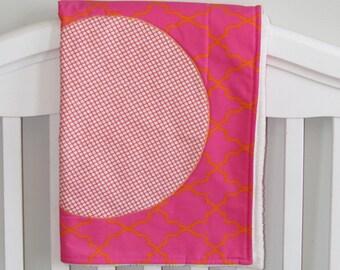Baby Girl Pink Blanket, , toddler blanket, pink and orange blanket, pink blanket, baby girl blanket