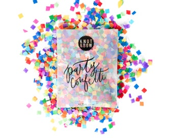 Tiny Rainbow Party Confetti / 1/2 oz Bag