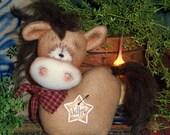 Primitive Patti's Ratties Horse Mule Donkey Doll Ornie Pattern #451