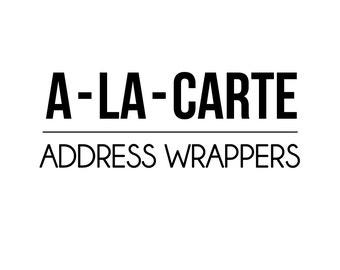 PRINTABLE PARTY - a-la-carte - Address  - Petite Party Studio
