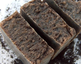ECOCALM Handmade Coffee Soap-Scrub, Exfoliating & Rejuvenating Tired, Rough Skin