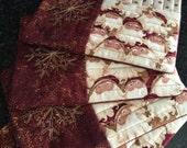 Quilted Santa Mug Rugs, Set of 4