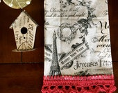 """French Christmas Design """"T"""" Towel"""