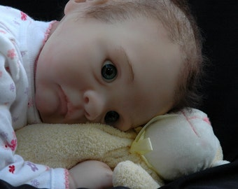 "Reborn 21"" baby girl, bright eyed, sweet, cuddly, Mazie"