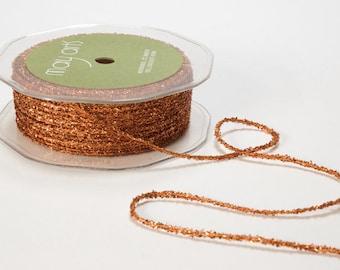 8 Yards METALLIC COPPER String  Ribbon Trim  cheswickcompany