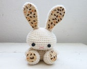 Amigurumi bunny, crochet bunny, cream bunny, bunny tail, rabbit doll, amigurumi animal, crochet amigurumi, ready to ship, handmade, kawaii