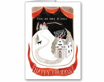 From Our Home to Yours Holiday Greeting Card, Christmas Card