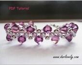 Beaded Bracelet Pattern - Simple Classy Purple Bracelet (BB135) - Beading Jewelry PDF Tutorial (Digital Download)