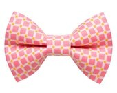 "Cat Bow Tie - ""The Breezy Kitty"" -  Pink Check"