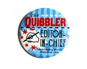 Geeky Pinback Buttons Quibbler Accessories for Wizards Nerdy Apparel