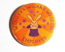 Harry Potter Pinback Buttons Weasley Wizard Wheezes Purple Orange Geeky Badges Apparel Accessories