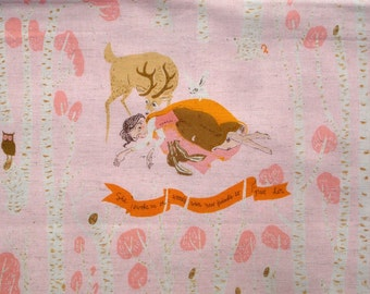 Heather Ross Far Far Away III Snow White Dwarves pink One Yard or more