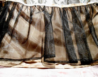 Vintage Lace 1960s Dress Tulle Lace Dress Flounce Synthetic lace