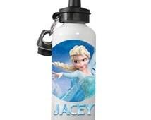 Elsa Personalized Water Bottle, Frozen Water Bottle, Elsa Frozen Custom Personalized Water Bottle, Custom Frozen Water Kids Water Bottle