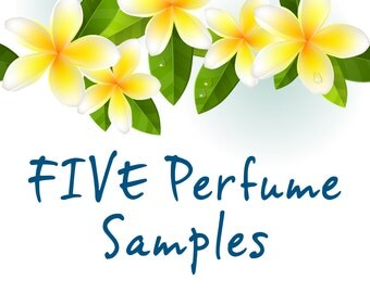 FIVE PERFUME SAMPLES: Plumeria, Gardenia, Tuberose, Island Girl and Island Bliss. 1.5 ml each.