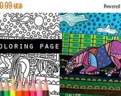 25% Off - Horse and Pony coloring, coloring book, adult coloring book, coloring pages, adult coloring pages, coloring book for adults