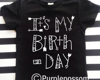 Its my Birthday Shirt Aztec Hipster Birthday Shirt Boy Girl Its my Birthday Shirt Arrow Birthday Shirt Hipster Birthday Shirt