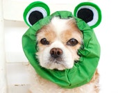 Frog Dog Snood - Stay-Put 3 Rows Elastic Thread - Specialty Snood - Pet Hat - Dog Costume - Halloween Costume