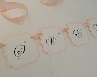 "Wedding Banner Wording ""Sweets"" to Decorate your Wedding Reception or Shower Candy Buffet All of my Colors Available"