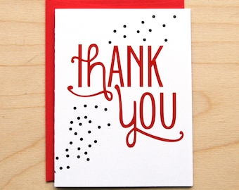 Dots Thank You Card
