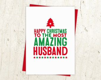 Happy Christmas Husband Card