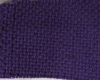 """Purple Upholstery Cotton Blend Fabric Remnant 1/2 Yard by 56"""" Wide"""