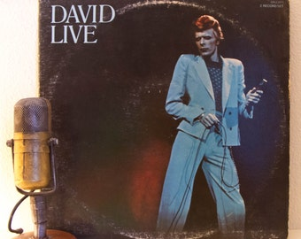 "ON SALE David Bowie Vinyl Record Albums LIVE 1970s ""David Live: David Bowie at the Tower Philadelphia"" (1974 Rca 2Lp Gatefold Set w/ inner s"