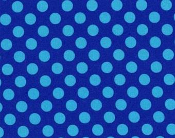 Michael Miller Fabric - Ta Dot in Cobalt, 1 Yard