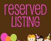 Custom Listing for lauraandrew3