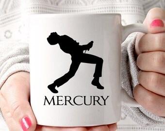 Freddie Mercury Queen Silhouette Coffee Mug