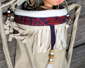 Native American Girl Indian Papoose fits choice of 18 inch, 14inch or 9 inch dolls